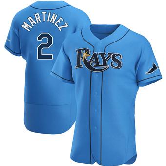 Men's Michael Martinez Tampa Bay Light Blue Authentic Alternate Baseball Jersey (Unsigned No Brands/Logos)