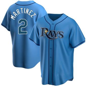 Men's Michael Martinez Tampa Bay Light Blue Replica Alternate Baseball Jersey (Unsigned No Brands/Logos)
