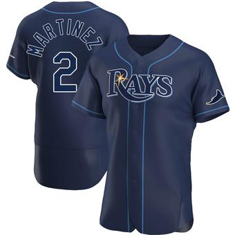 Men's Michael Martinez Tampa Bay Navy Authentic Alternate Baseball Jersey (Unsigned No Brands/Logos)
