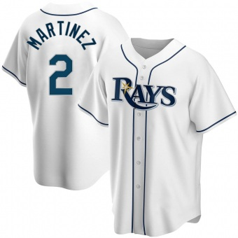 Youth Michael Martinez Tampa Bay White Replica Home Baseball Jersey (Unsigned No Brands/Logos)